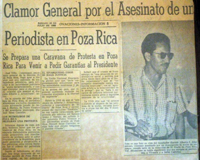 El asesinato de alberto J. altamirano en Poza Rica en 1960