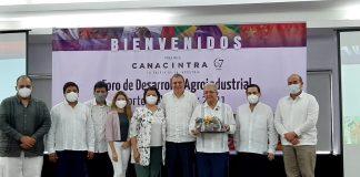 Durante la inauguración del Foro de desarrollo agroindustrial Norte de Veracruz 2021 (Foto: Canacintra)