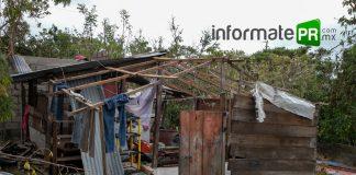 En arroyo del maíz algunas viviendas se quedaron sin techo (Foto: Jorge Huerta E.)