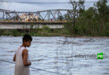 Desde la tarde de ayer se emitió la alerta por riesgo del desbordamiento del río Cazones a su paso por la ciudad de Poza Rica (Foto: Jorge Huerta E.)