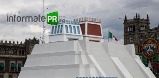 Maqueta monumental que representa la Gran Tenochtitlan en ela CDMX (Foto: Jorge Huerta E.)