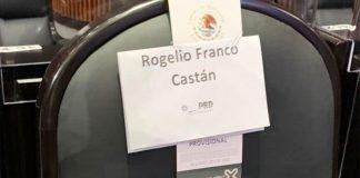 Curul de Rogelio Franco Castán en la cámara de diputados federal (Foto: Excelsior)