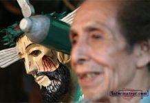 Don José Garrido hace máscaras y santos de cedro que duran toda una vida (Foto: Jorge Huerta E.)