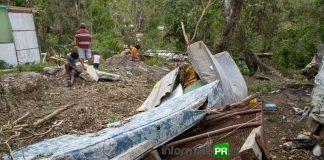 "Estragos del huracán ""Grace"" en la colonia El paraíso de Poza Rica (Foto: Jorge Huerta E.)"