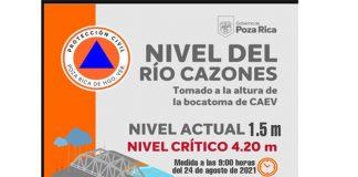 Río Cazones no representa riesgo en este momento