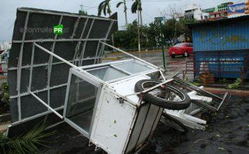 DEvastación en municipios de la zona norte por el paso del huracán Dean (Foto: Jorge Huerta Estrada)